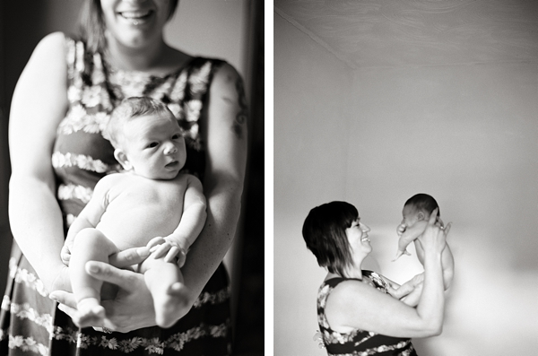 inspiring newborn family session with film by photographer Molly Matcham