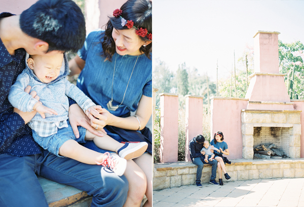 LA family photo diptych by The Great Romance Photo