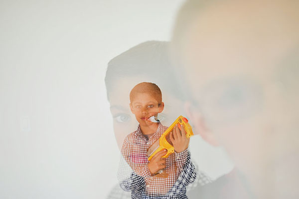 creative child photography with nerf guns by San Francisco photographer Story Box Art