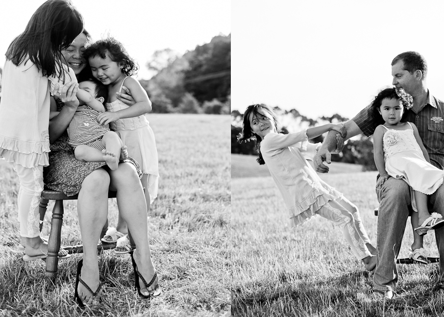 black and white family portraits by New Zealand photographer Sam Mothersole