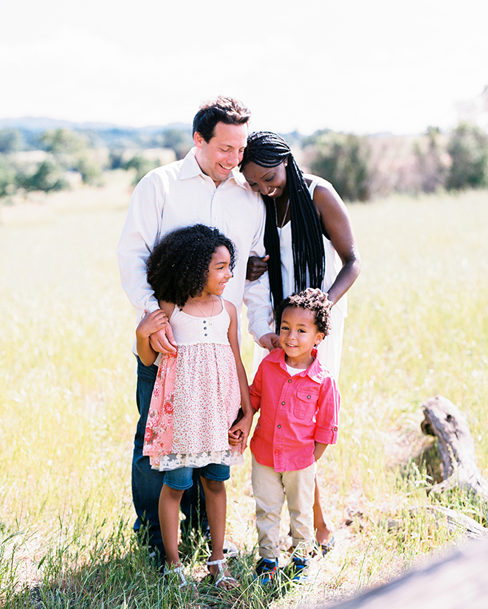family picture in field by san francisco bay area photographer kim tsui