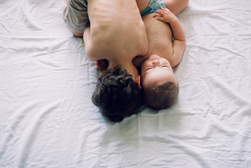 Megan Dill's image of two boys on bed