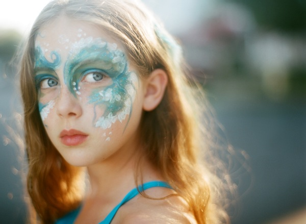 a beautiful life photo's image of girl with face paint
