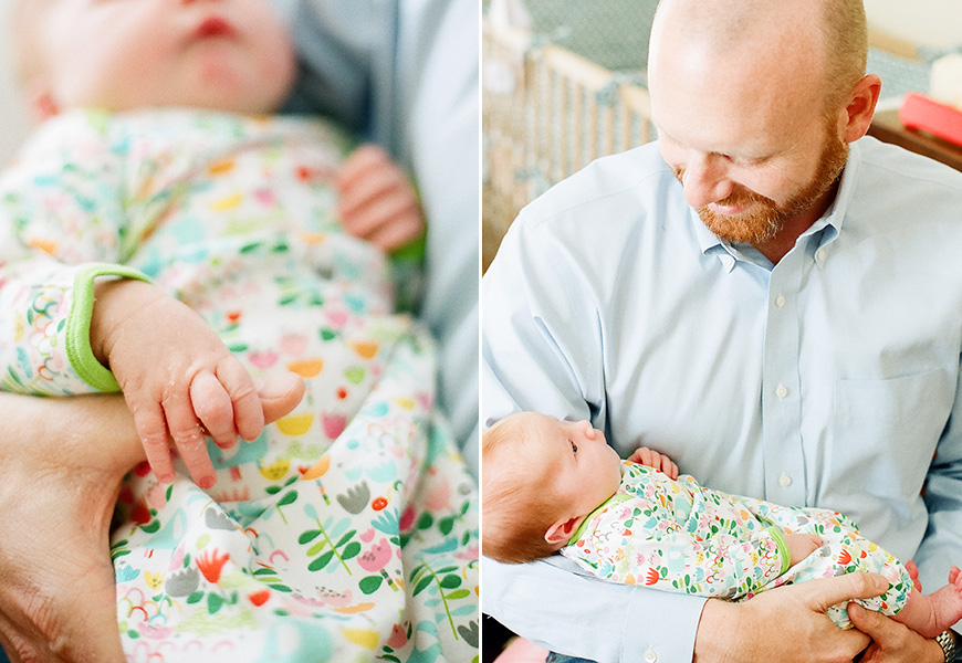 austin family photographer amber snow's photo of newborn at home