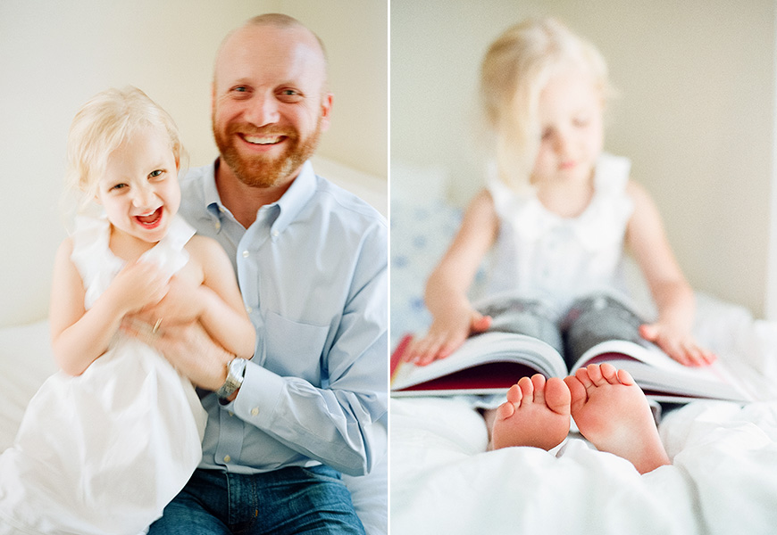 austin family photographer amber snow's pic little girl laughing with dad