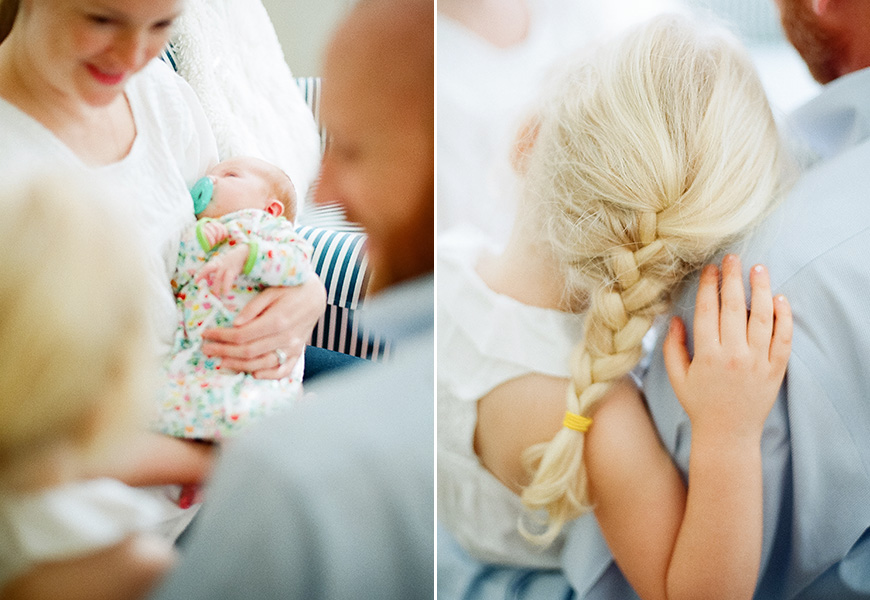 austin family photographer's photo of gorgeous family with little girl with braid