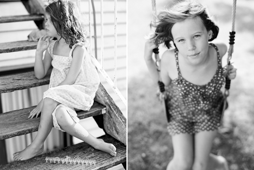 australia photographer toni raper's black and white image of girl on swing
