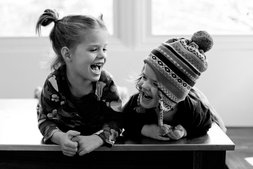 these two sisters photo project black and white girls laughing