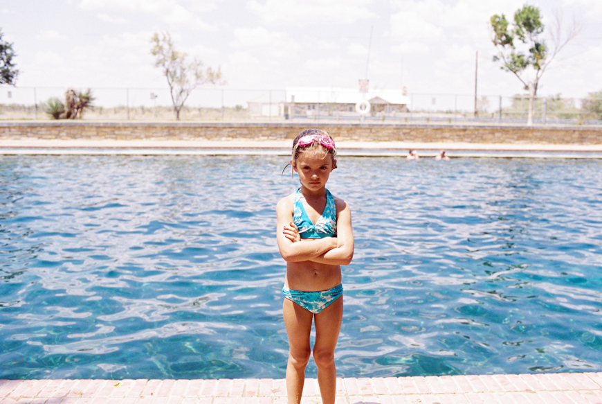 family photographer brooke schwab's photo of girl at pool