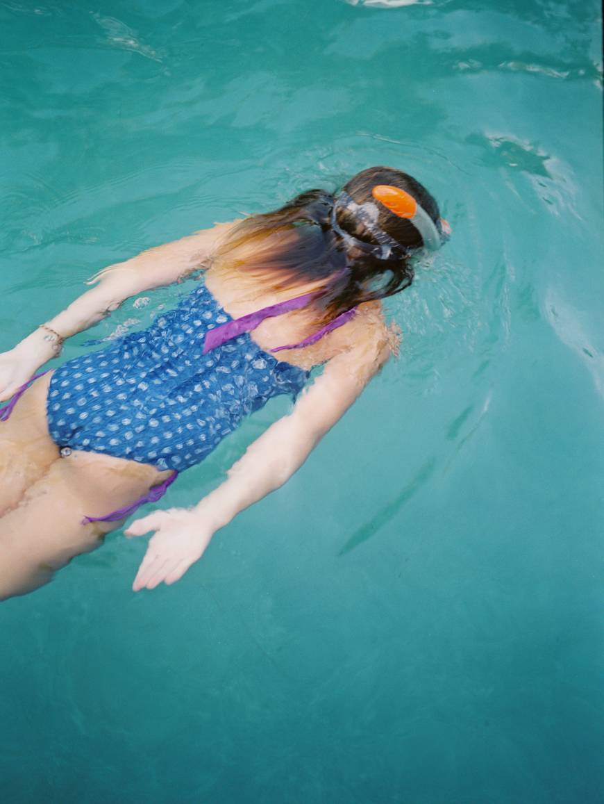 photographer amber snow's film photo of girl swimming