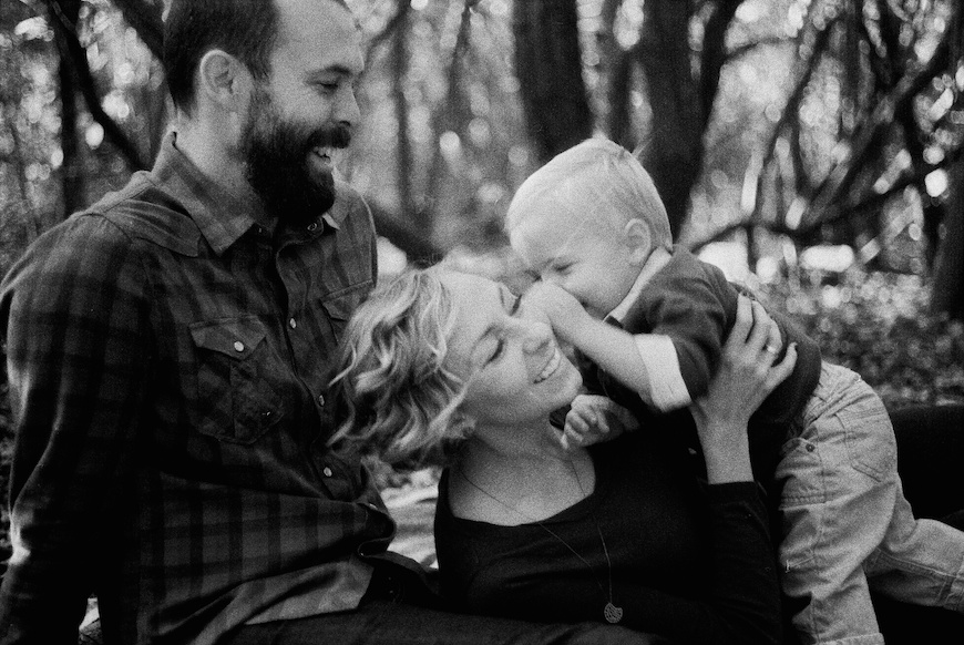 brothers wright's bw image of boy and parents