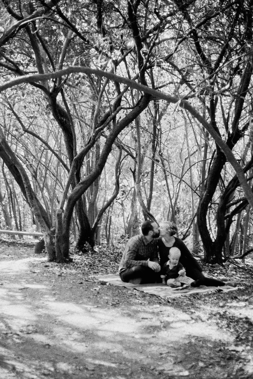 brothers wright's film image of family sitting in trees
