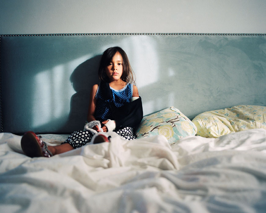 kim tsui's pic of girl in bed