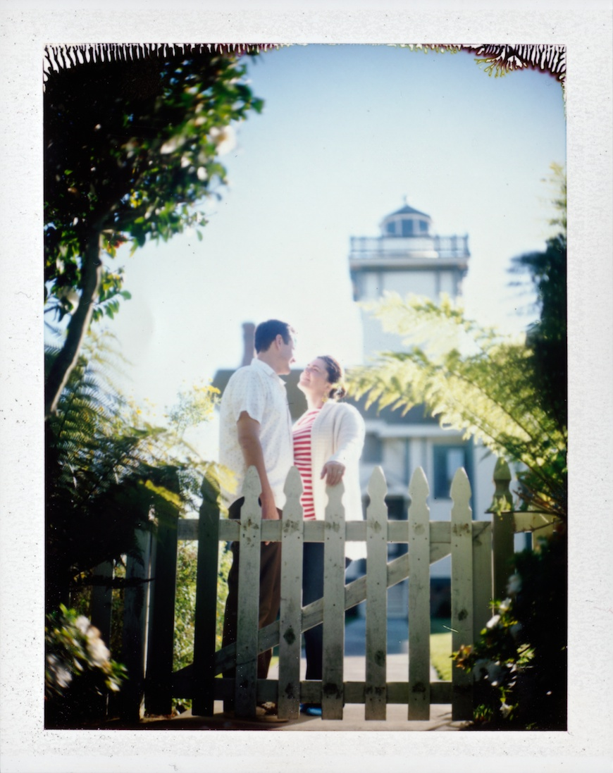 polaroid picture of pregnant couple by the brothers wright