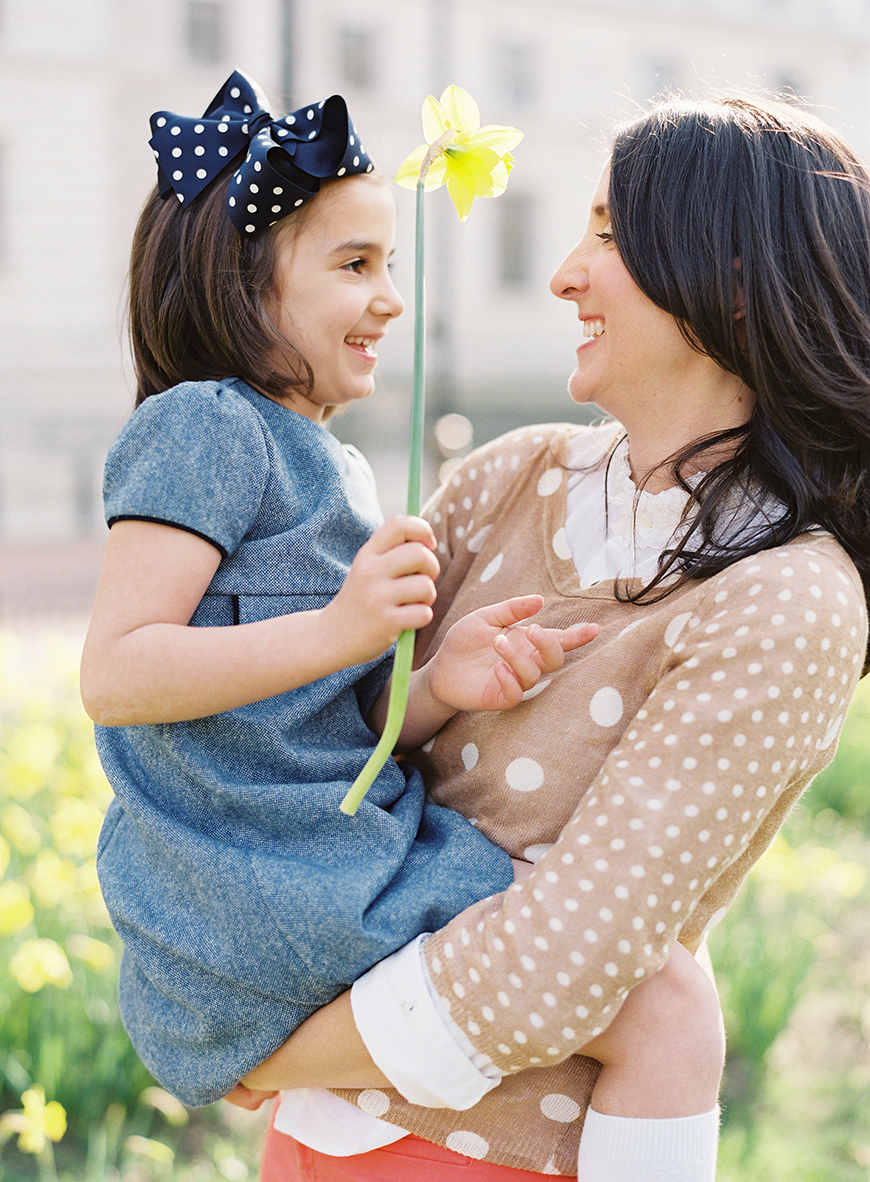 victoria phipp's pic of mom and daughter with flower