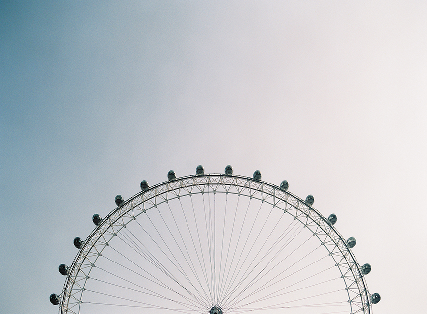 victoria phipp's image of ferris wheel in sky