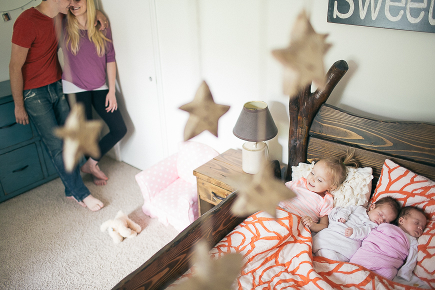 allison corrin's photo of family with stars in bedroom