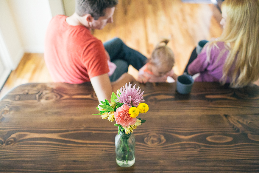 allison corrin's pic of family at table with flowers