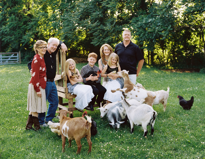 anna rasmussens photo of family group with farm animals
