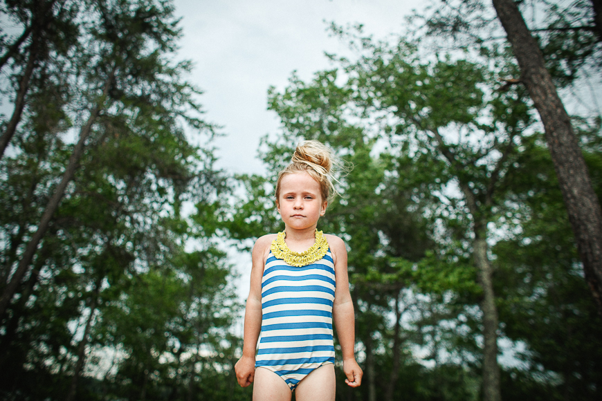 holly donovan's photo of girl in striped bathing suit