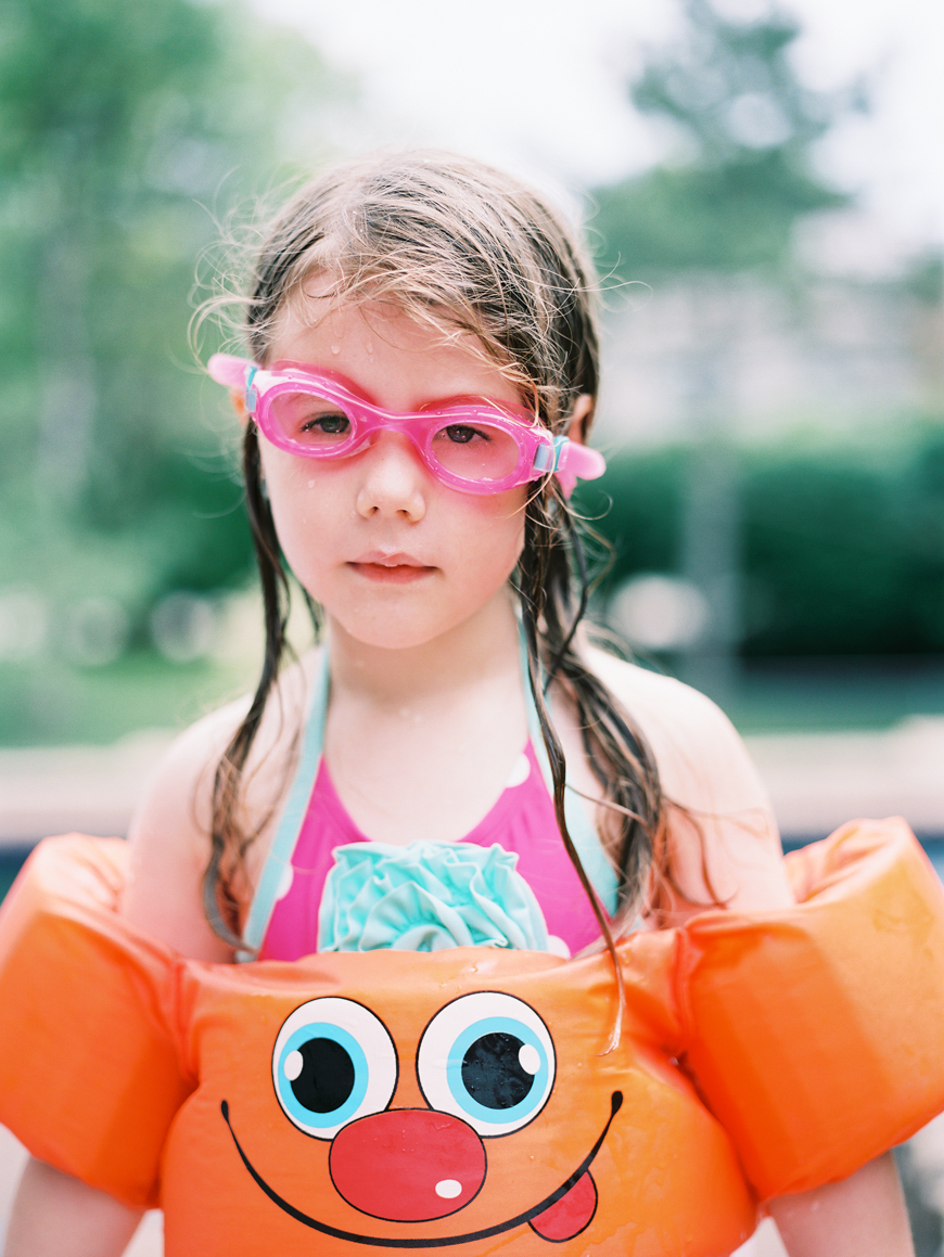 kristen clayville's image of girl in floatie