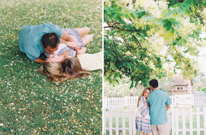 maui family photographer wendy laurel's photos of family under flowering tree -28