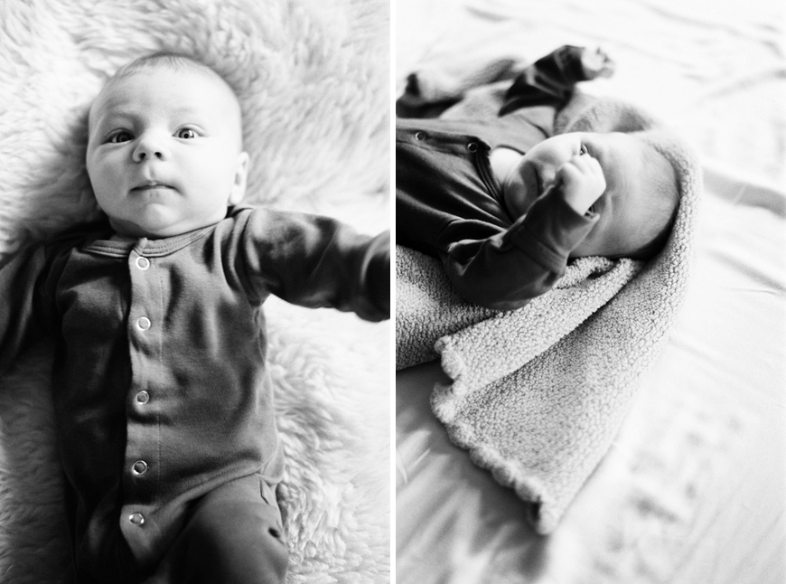 utah photographer heather howard's image in black and white of baby