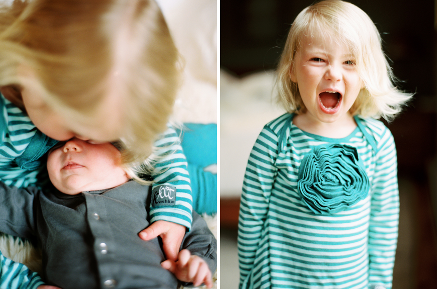 utah photographer heather howard's image of blonde girl in striped tees