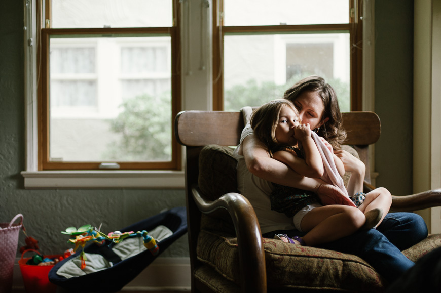 Image of snuggle time at home in gorgeous light by photographer Christine Sargologos-9
