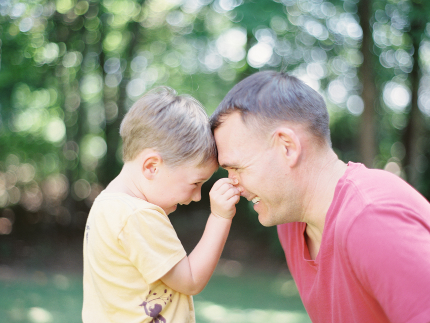boy pinching dads nose picture by photographer mara wolff