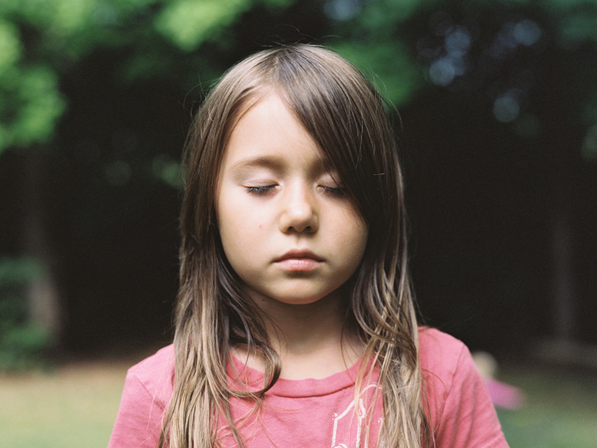 gorgeous child film portrait by photographer mara wolff
