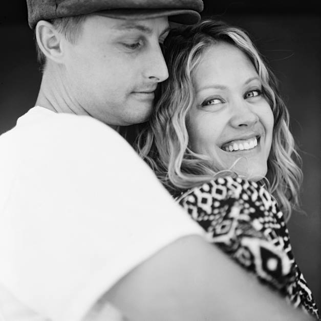 jonathan canlas's image of rachel thurston and husband in black and white