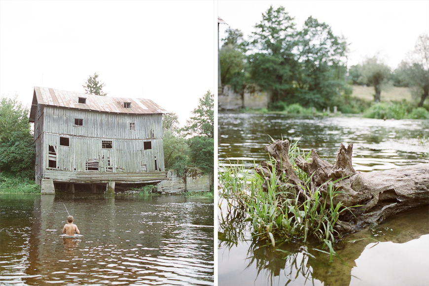 monika photography's film image of house on river