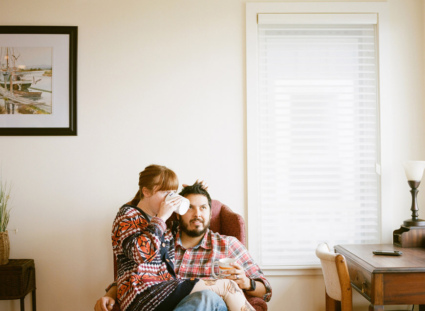 Catherine Abegg's image of the parents together at home