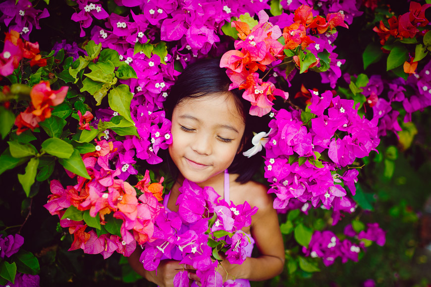 kim ebert photography's photo of girl in pink flowers