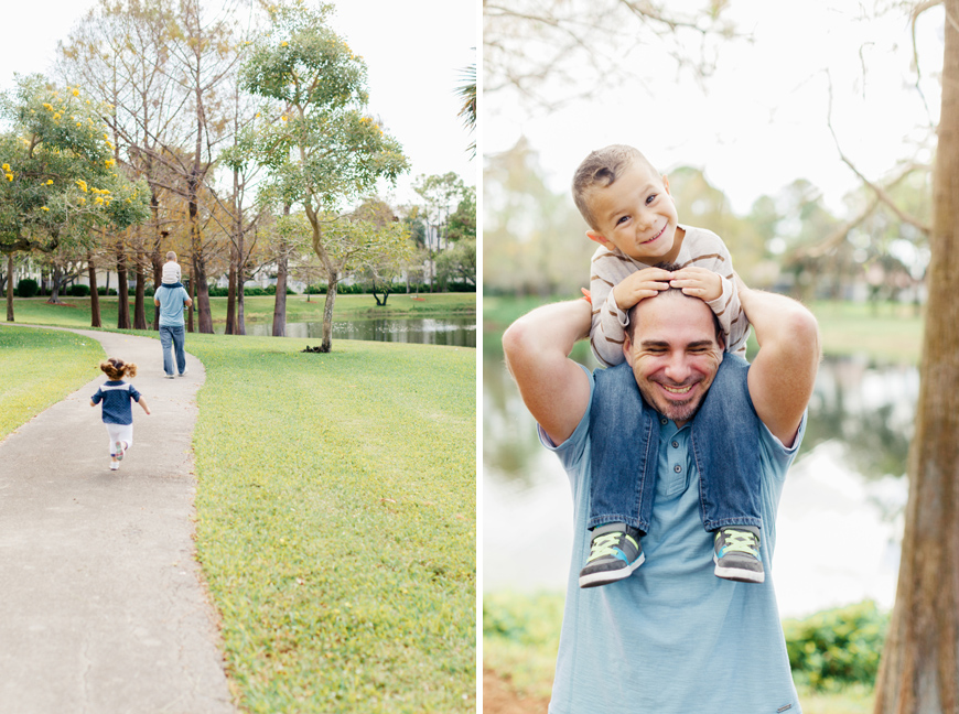 miami photographer Elaine Palladino's image of father and son smiling and being happy