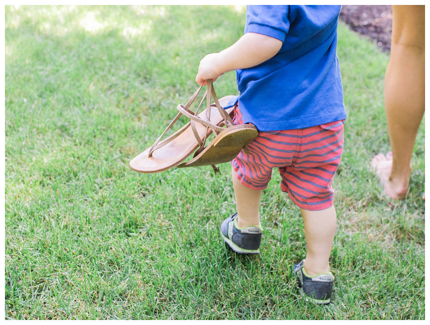 son carrying moms shoes image by nj family photographer sarah day boodhoo