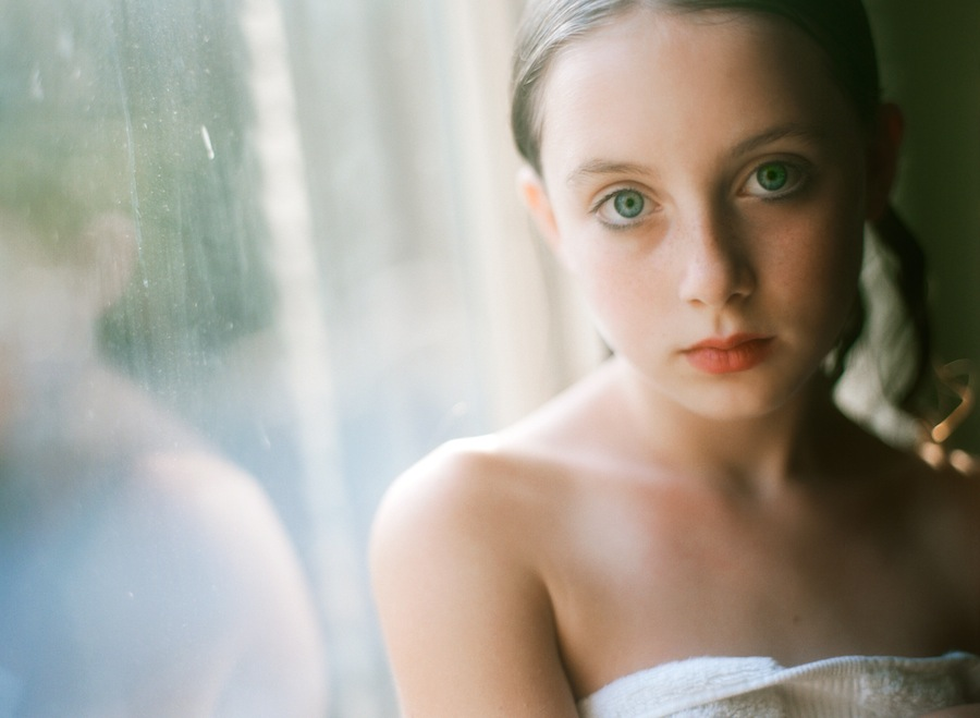 beautiful film portrait in window light by amy grace of a beautiful life photo