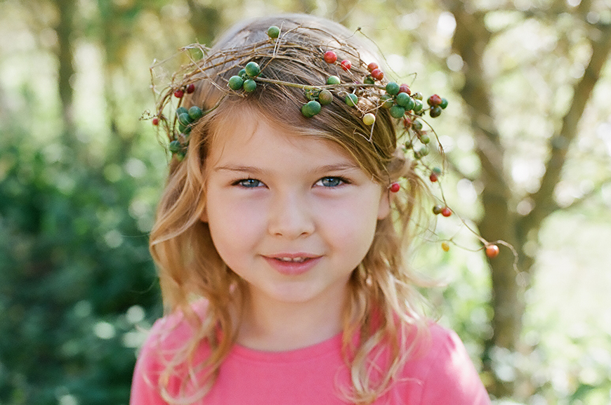 emily w's photograph of little girl in berry and twig headpiece