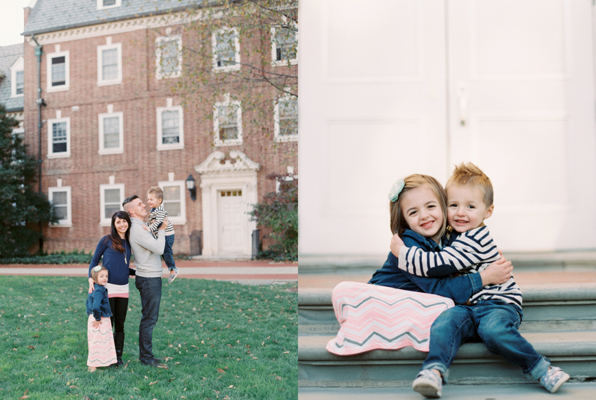 super cute film portrait of siblings hugging by photographer brianne rust