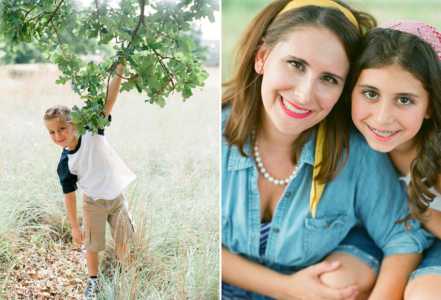 Jenny-McCann-Dallas-film-photographer's image of mom and kids under tree in natural light