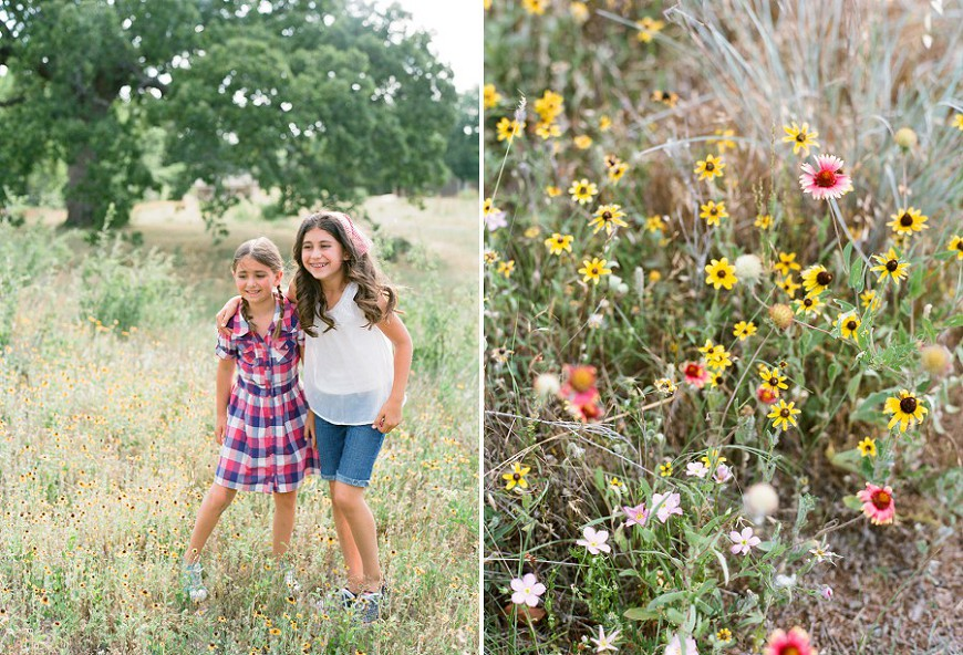 Jenny-McCann-Dallas-film-photographer's image of two sisters in flower field