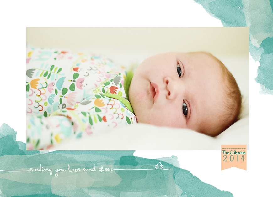 amber snow's image of baby on holiday card