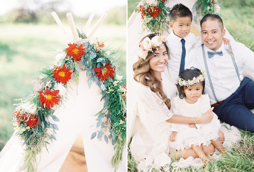 beautiful family portrait outdoors by by Hawaii photographer Alisa Greig