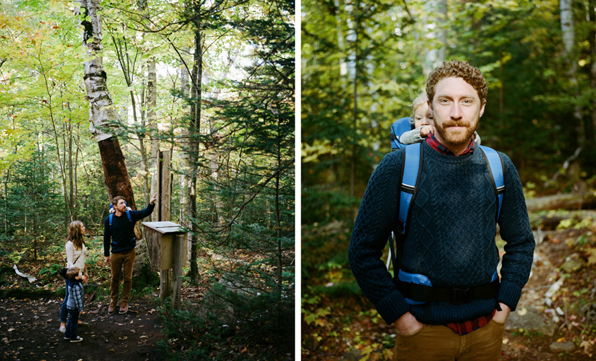 gorgeous film images of father and family hiking by ash imagery