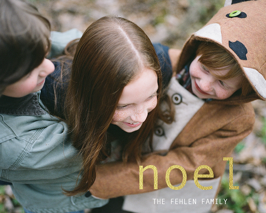 kelsea fehlen's film image for holiday noel card