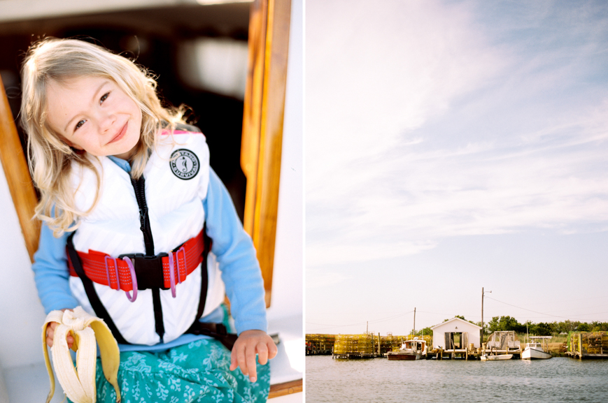 photographer erin hughes's image of girl in life jacket on sailing boat