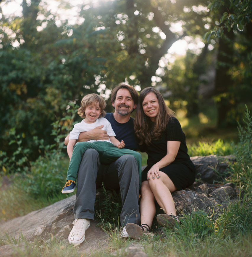 film image of family in woods by berkeley photographer zalmy b