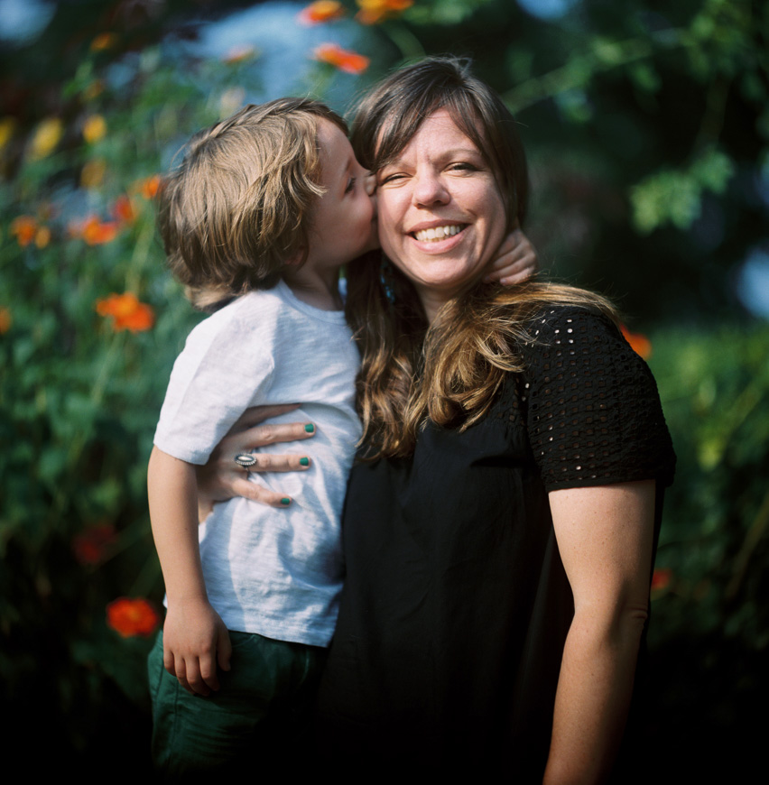 film photograph of mom and son by photographer zalmy b