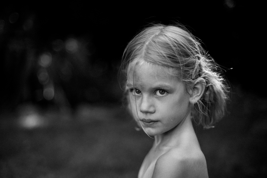 girl in black and white portrait image by photographer emily mccan